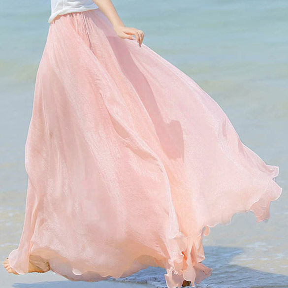 0dd5178495d1 dámská dlouhá letní volná sukně