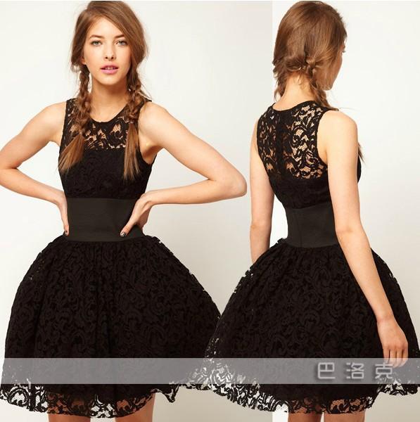 krajkové šaty s balonovou sukní  e34abf26958