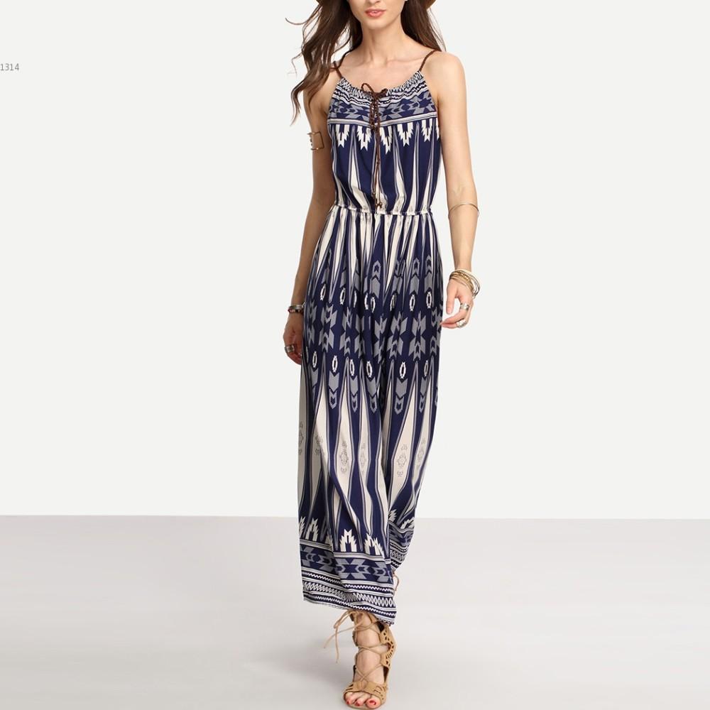 dlouhé letní šaty s potisky  2d1fd93796