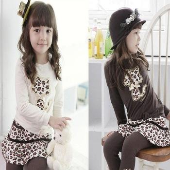detska-leopardi-souprava-triko-s-dlouhym-rukavem-leginy-se-sukni
