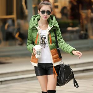 damska-zelena-zimni-bunda-s-kapuci