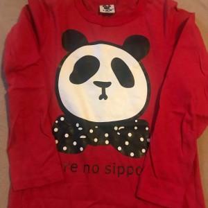 detske-cervene-tricko-s-dlouhym-rukavem-panda